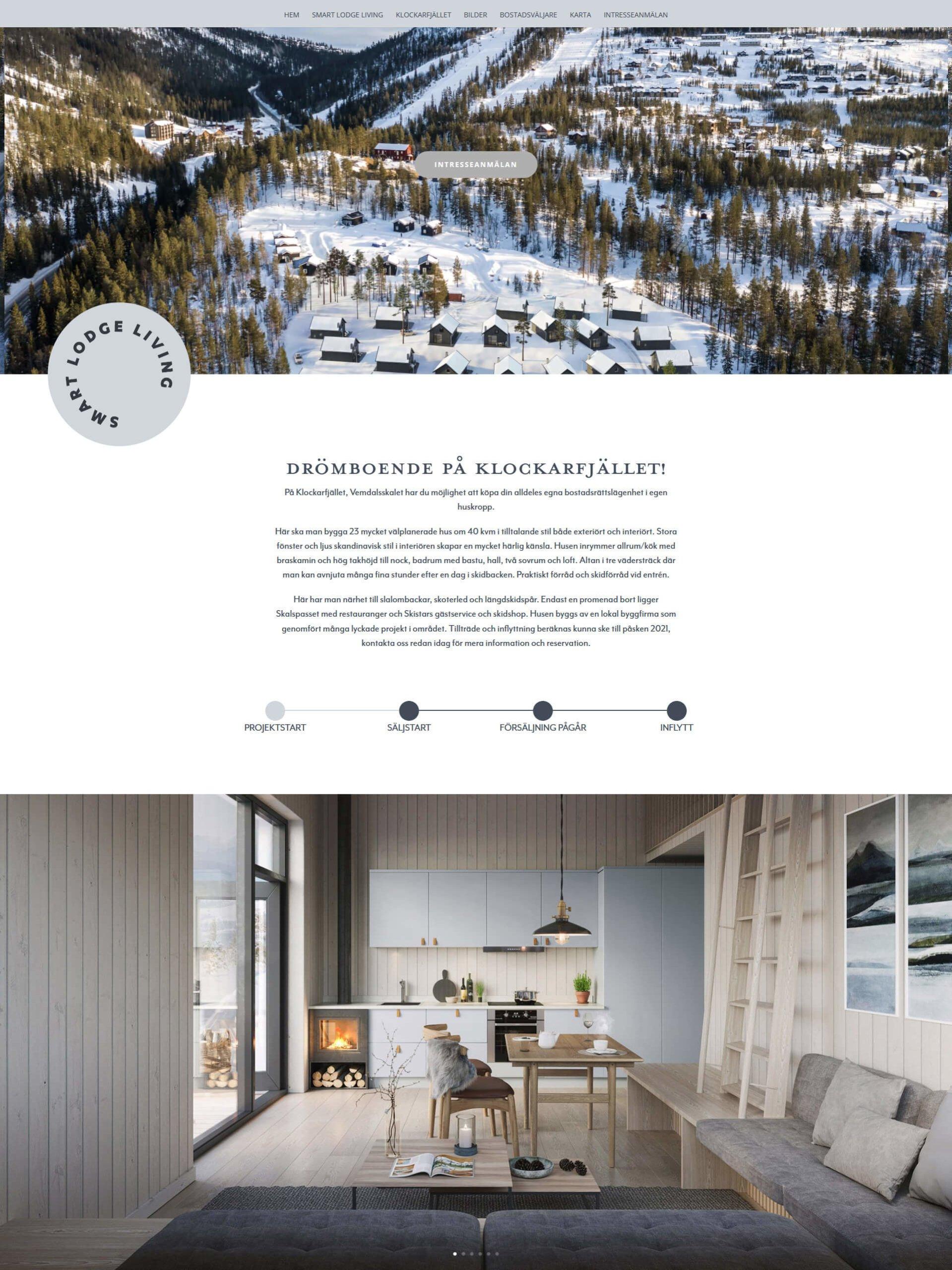 Smart Lodge Living hemsida
